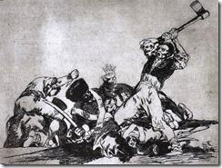 Gemetzel auf einer Grafik von Francesco Goya