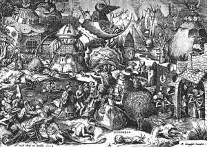 """Pieter Brueghel """"Superbia"""" - der Hochmut"""