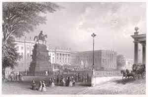 Stich der Humboldt-Universität ca. 1850