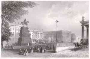 Stich der Humboldt-Universität ca. 1850