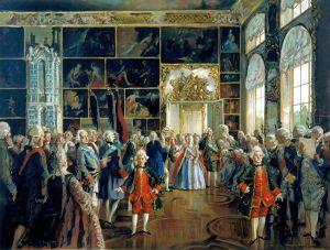 Zarin Katharina II. und ihr Hofstaat