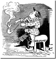 Bei Wilhelm Busch experimentiert Krischan mit Vaters Pfeife