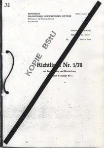 Dokument Stasirichtlinien