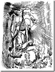 Wilhelm Buschs Zeichnung vom asketischen Eremiten Antonius