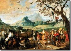 Noahs Einzug in die Arche von Hans Jordaens
