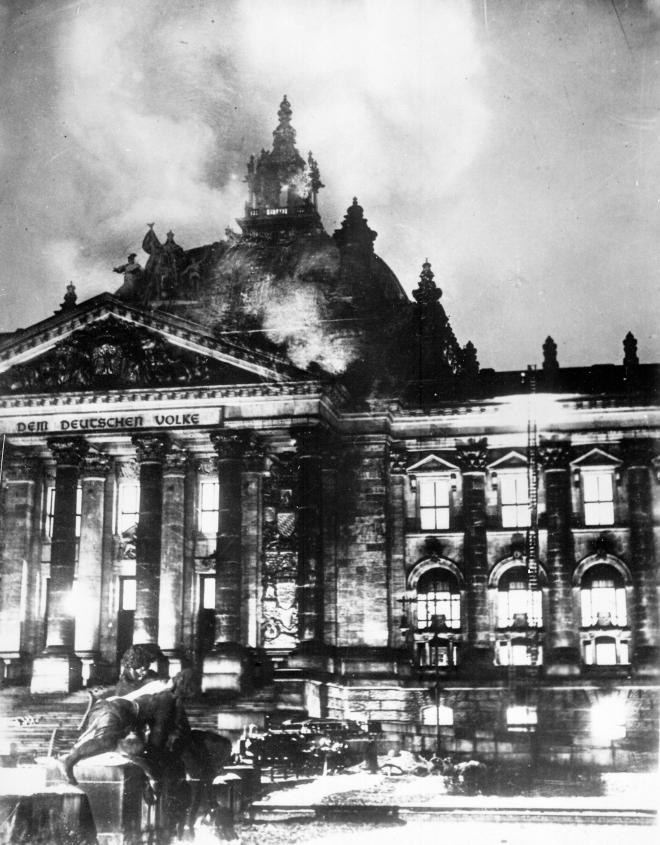 Brennender Reichstag 27./28. Februar 1933