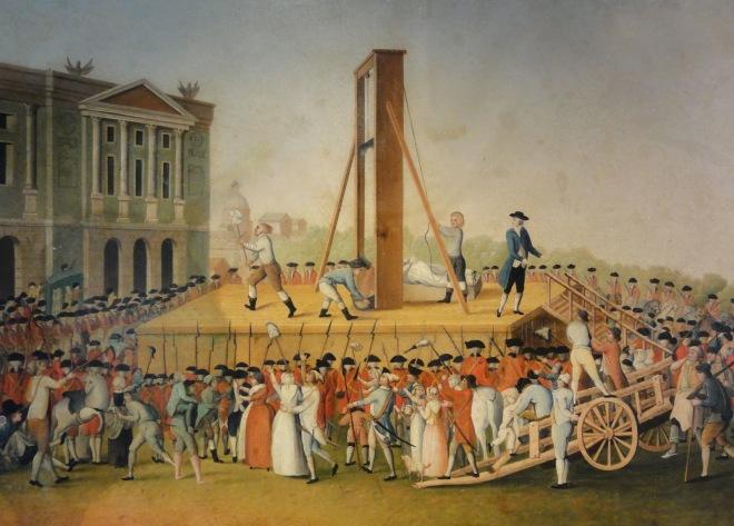 Die Königin von Frankreich wird guillotiniert